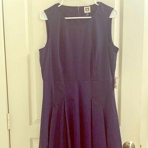 New Anne Klein Navy Sleeveless Hi/Low Dress 10